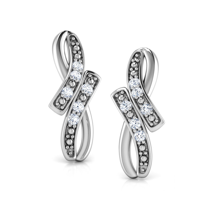 Infinity Arc Stud Earrings