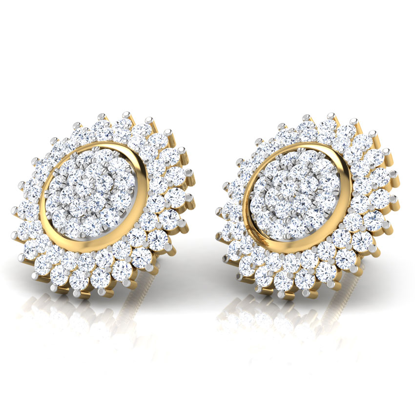 Clare Rounded Stud Earrings