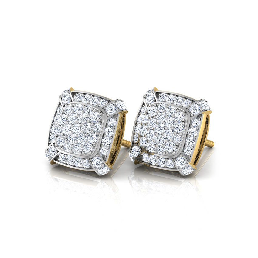 Elivera Castor Sparkle Stud Earrings