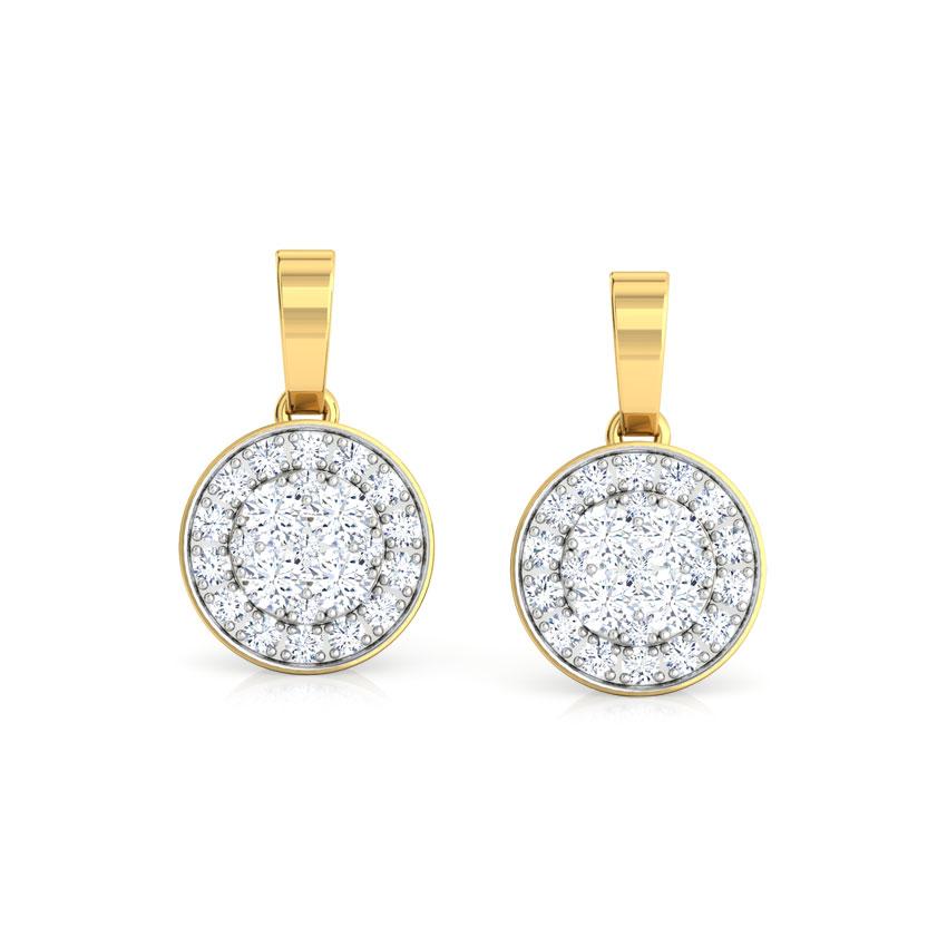 Sarah Bunched Drop Earrings