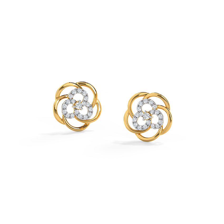 Ava Intertwined Stud Earrings