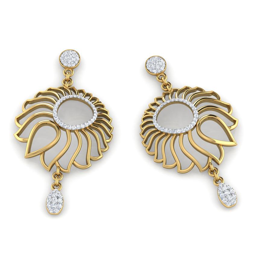Lotus Floweret Drop Earrings