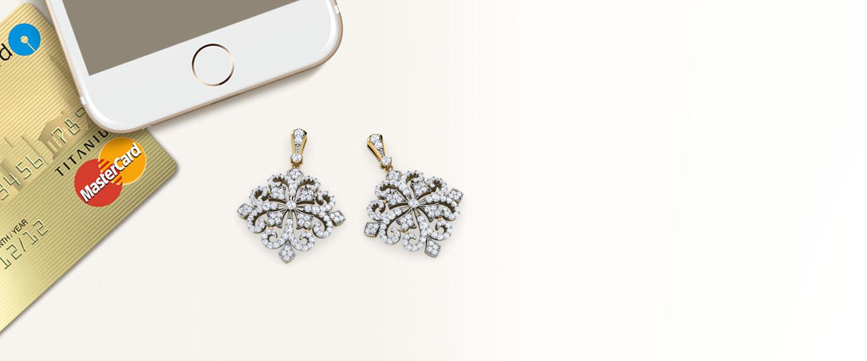 Diamond Earrings 14 Karat Yellow Gold Nova Victorian Diamond Drop Earrings