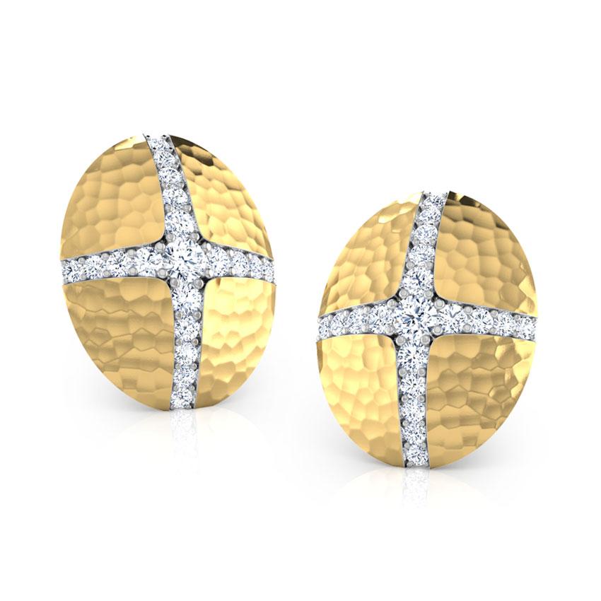 Nella Hammered Stud Earrings