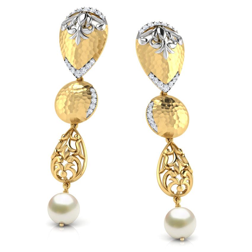 Elvia Hammered Drop Earrings