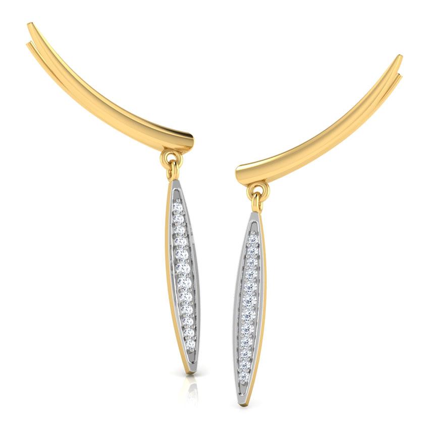 Diamond Drop Ear Cuffs