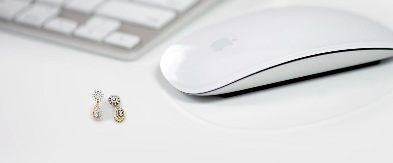 Diamond Earrings 14 Karat Yellow Gold Motif Diamond Drop Earrings