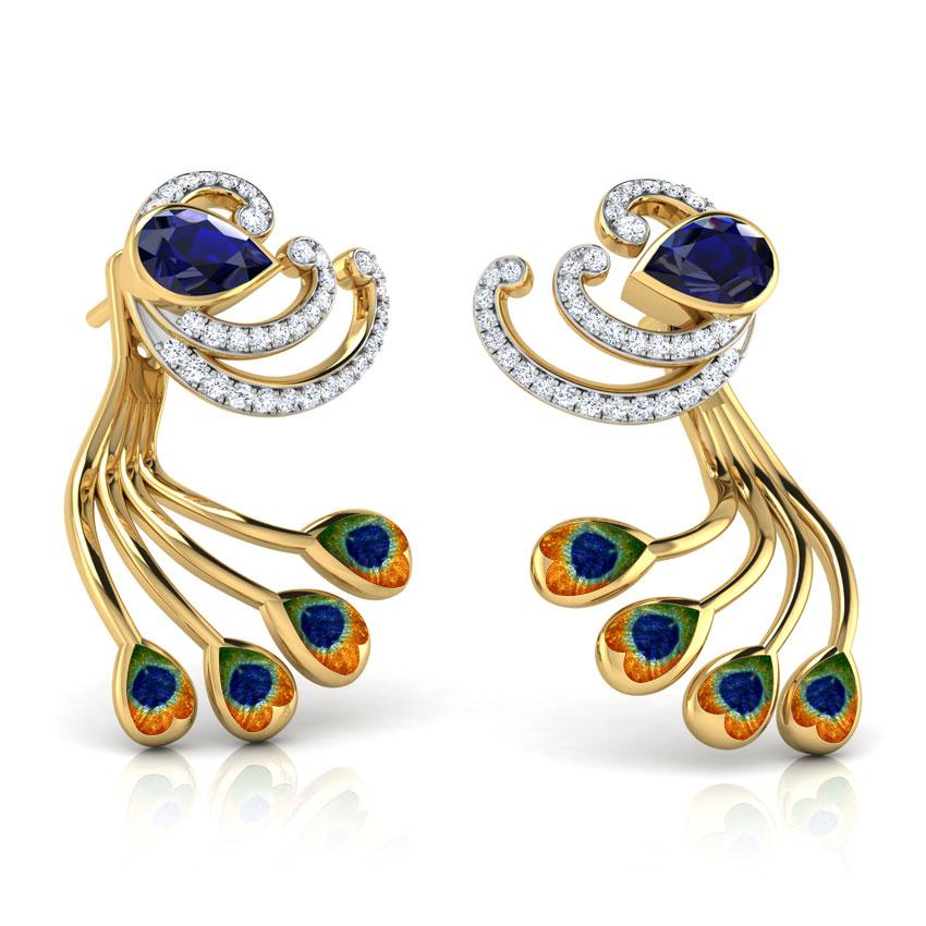 Glory Peacock Fashion Earrings