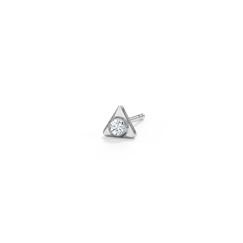 Diamond Earrings 18 Karat White Gold Calvin Diamond Ear Stud for Men