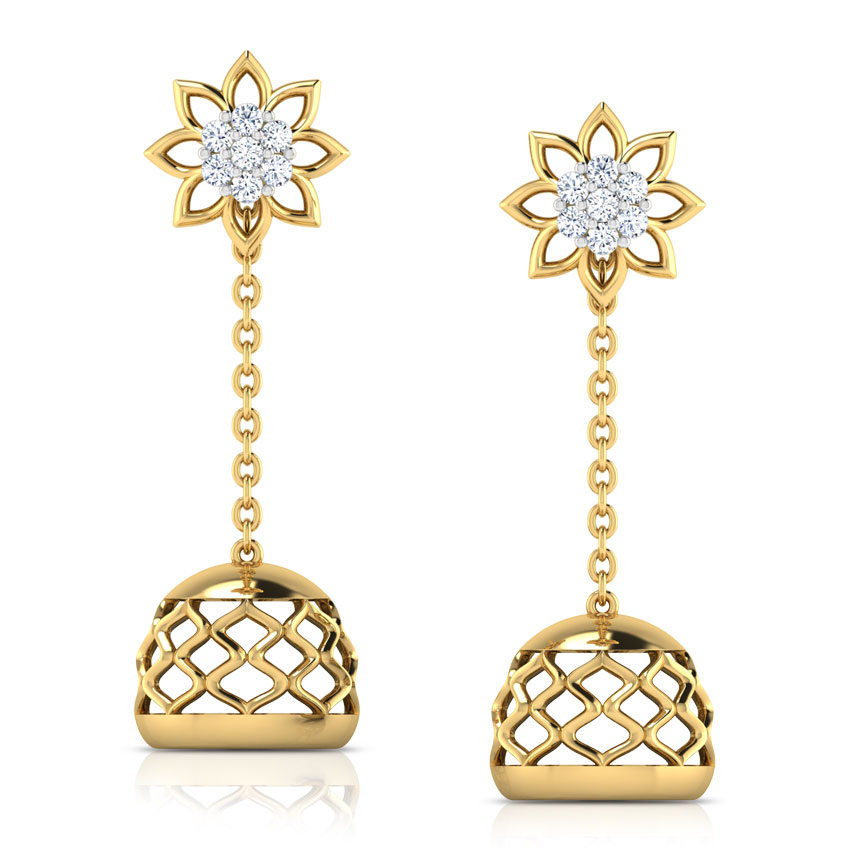 Floral Cluster Multi-Style Jhumkas