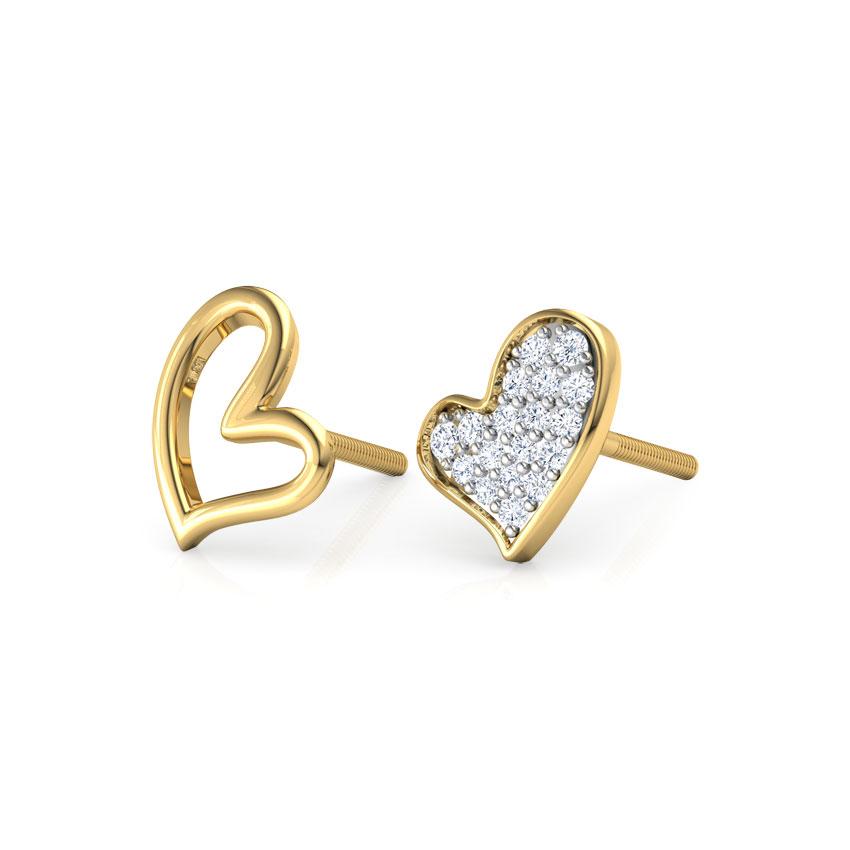 Full Heart Mismatched Earrings
