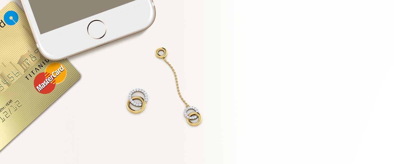 Diamond Earrings 18 Karat Yellow Gold O & O Mismatched Diamond Mismatched Earrings