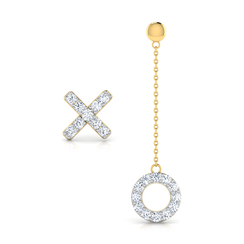 X & O Mismatched Earrings