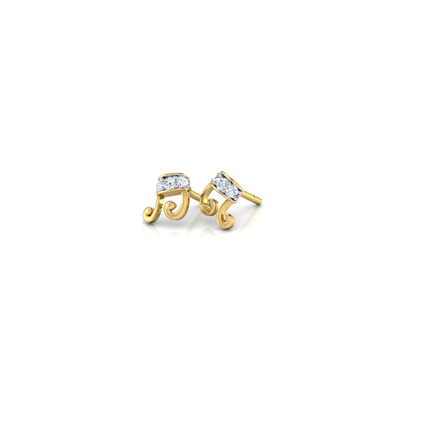 Musical Beam Stud Earrings