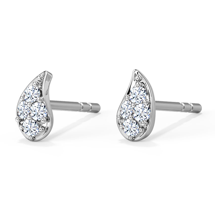 Frond Stud Earrings