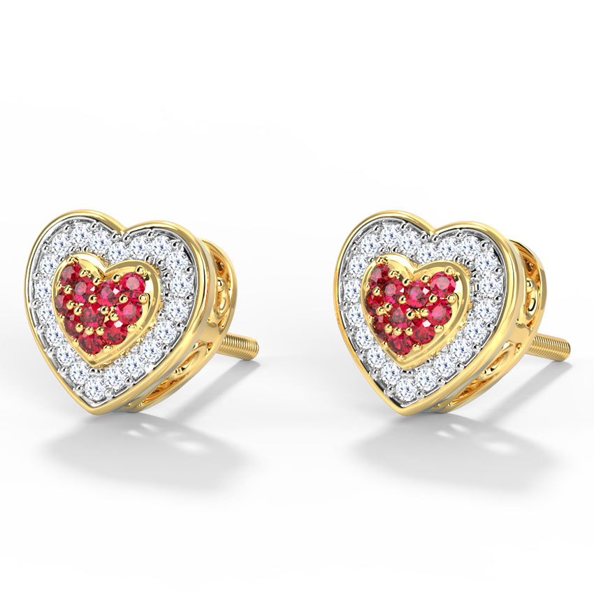 Blossom Heart Stud Earrings