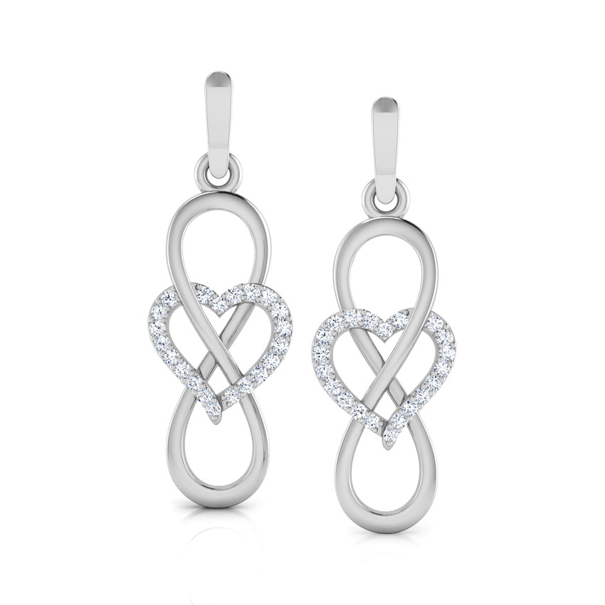 Infinity Heart Drop Earrings