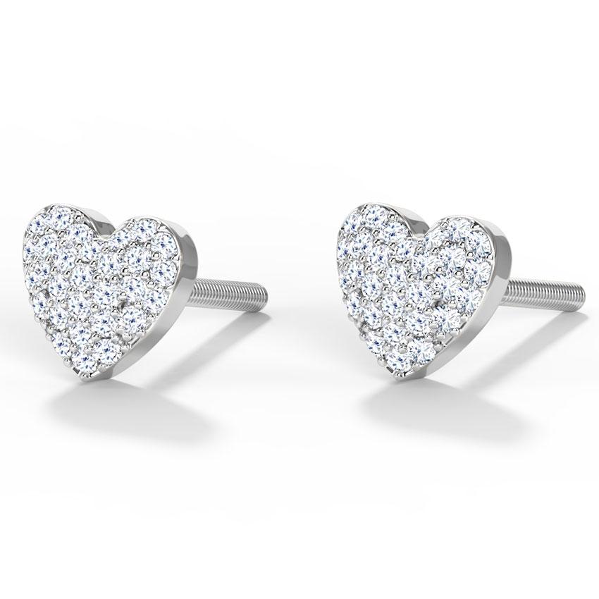 Glint Heart Stud Earrings