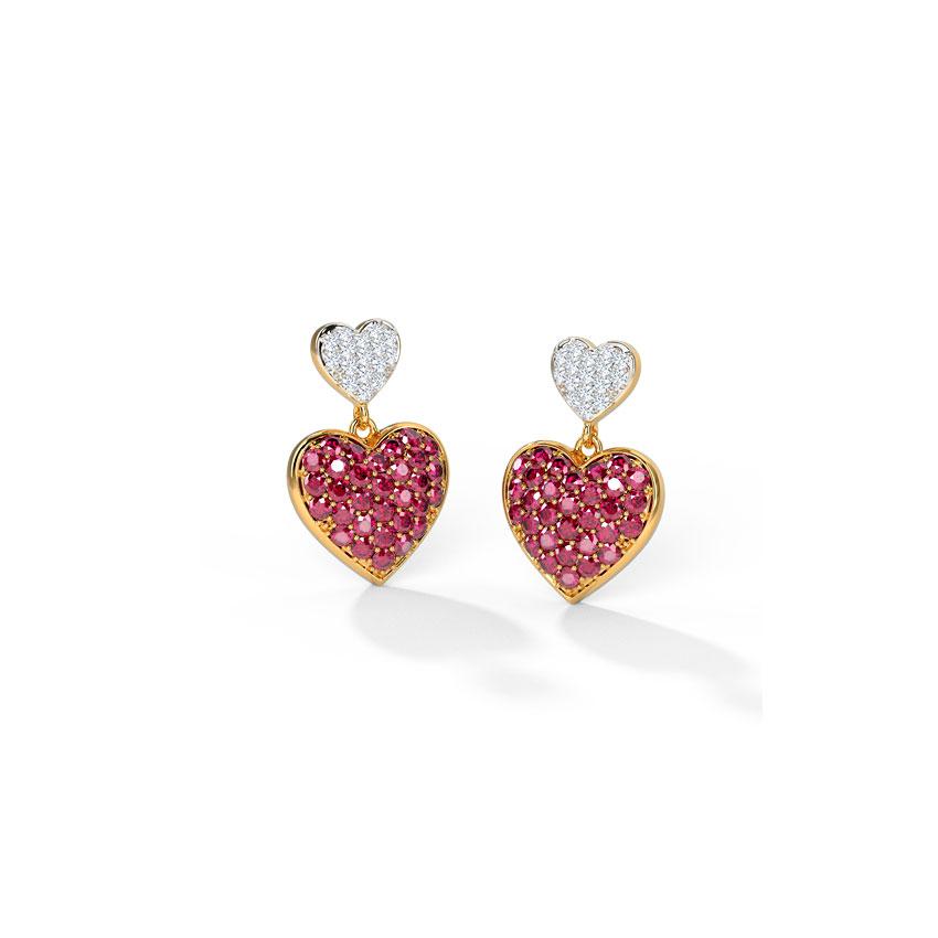 Duo Heart Drop Earrings