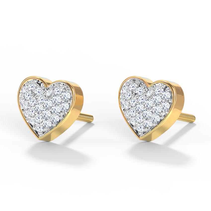 Bevy Heart Stud Earrings