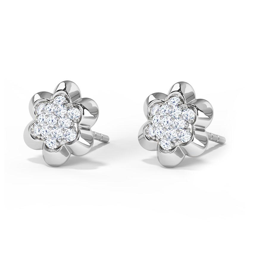 Floral Clutch Stud Earrings