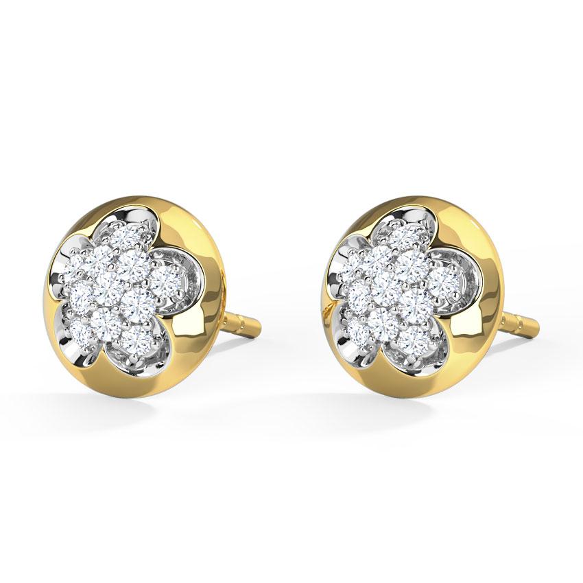 Floret Cluster Stud Earrings