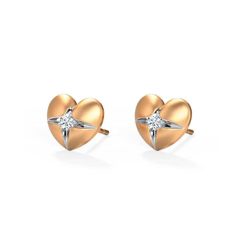 Heart Pocket Stud Earrings