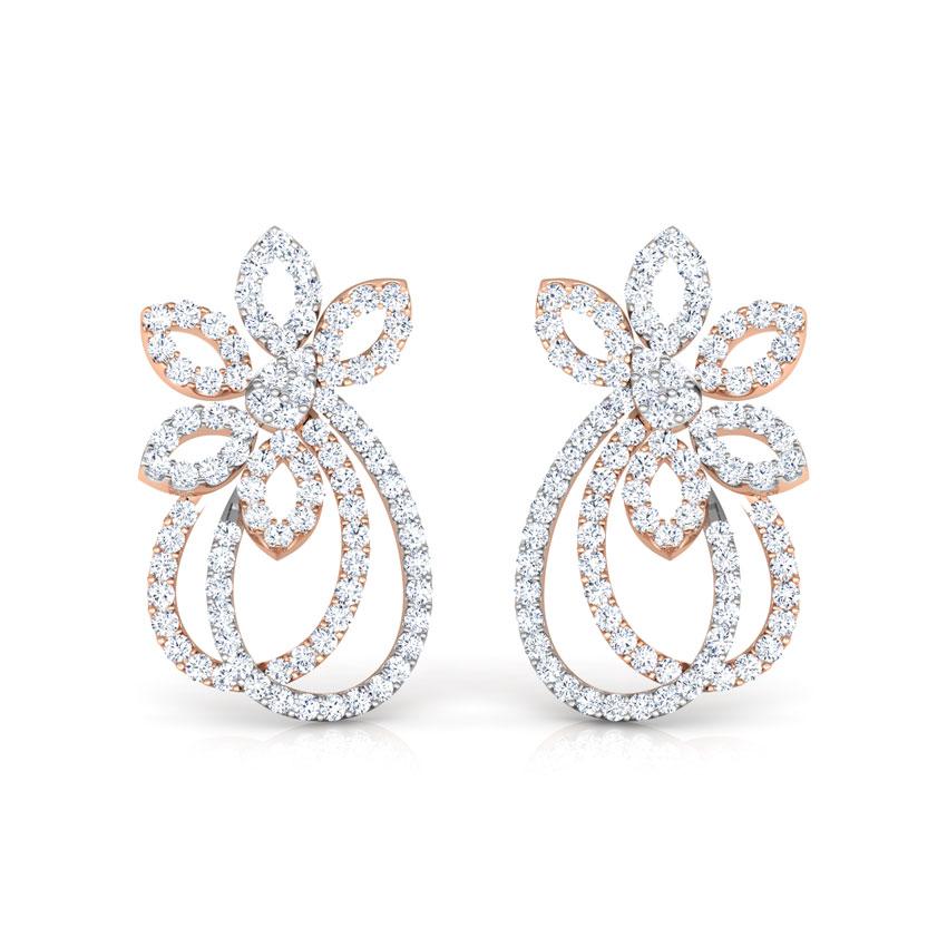 Tinsel Stud Earrings