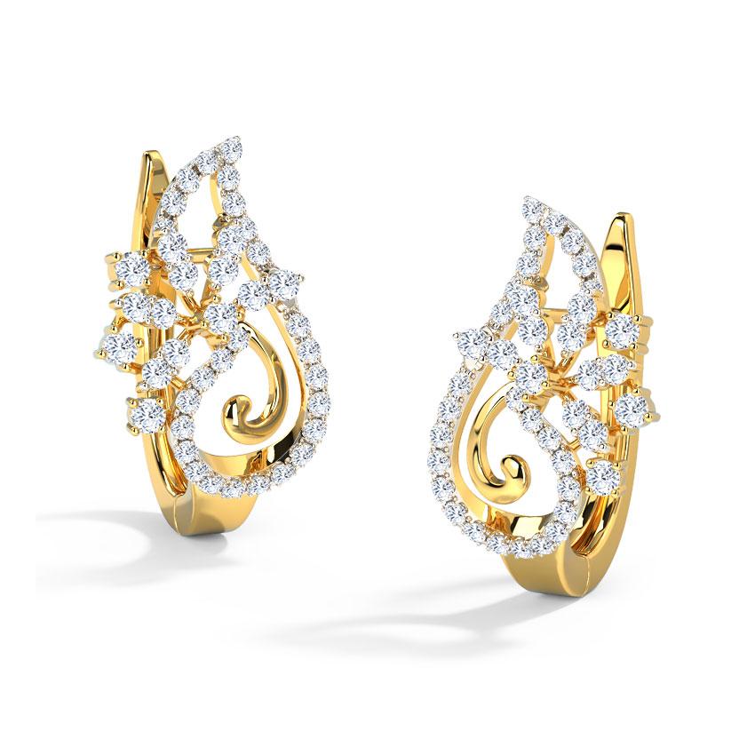 Ciara Paisley Hoop Earrings