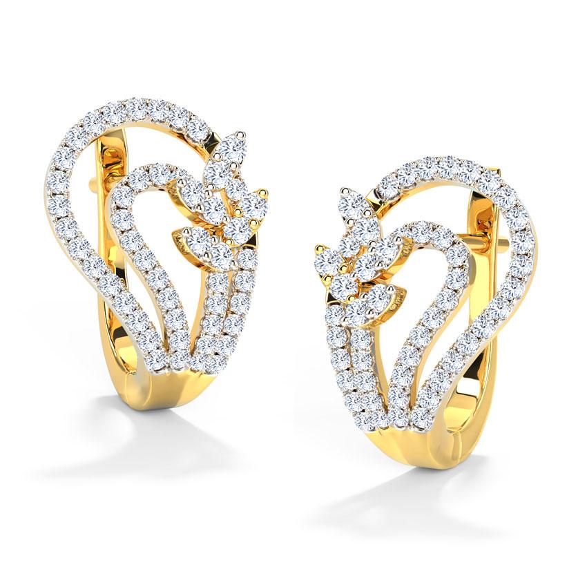 Briana Curve Hoop Earrings