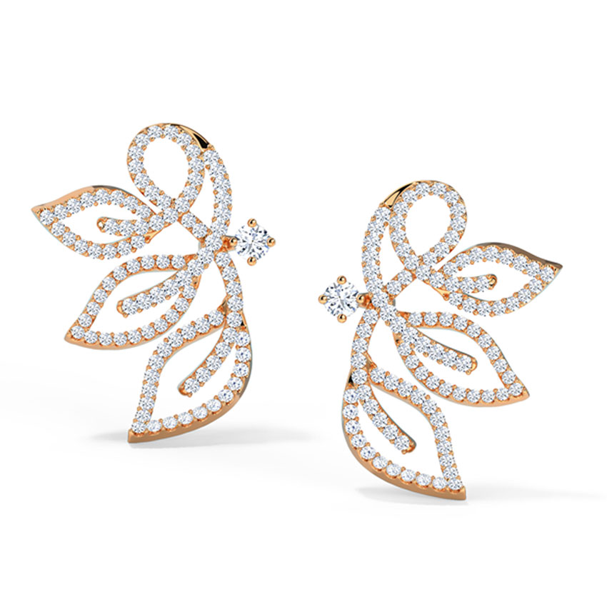Insignia Leaf Stud Earrings
