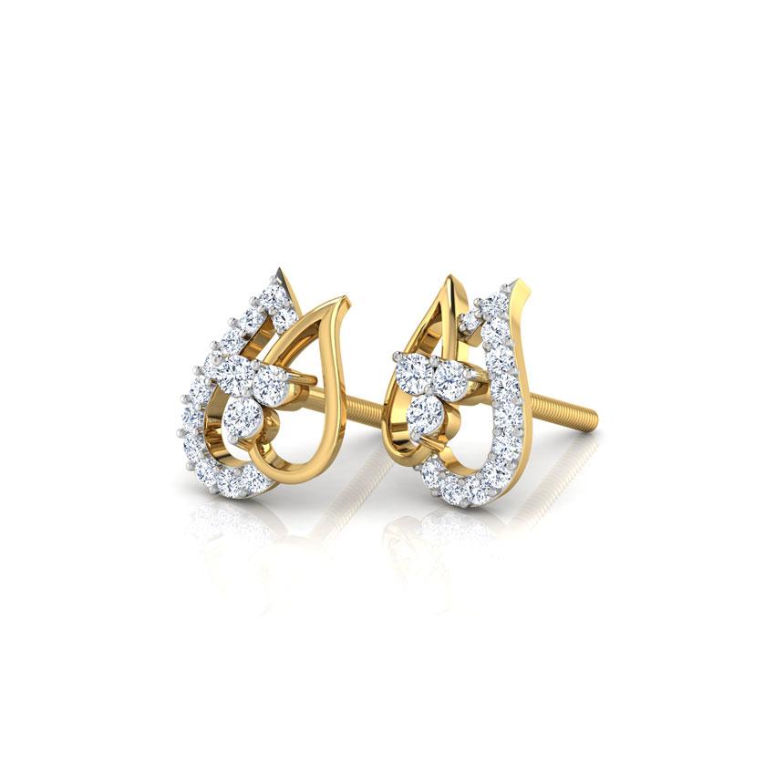 Altair Leaf Stud Earrings