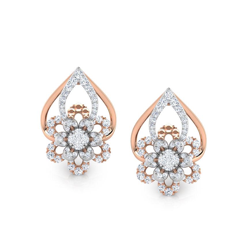 Diamond Earrings 18 Karat Two Tone Gold Krista Diamond Hoop Earrings