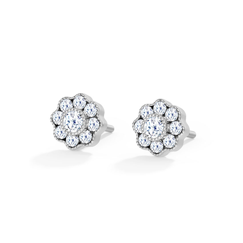 Petite Cluster Stud Earrings