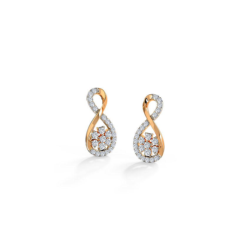 Cluster in Infinity Stud Earrings