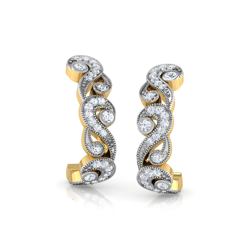Classic Scroll Hoop Earrings