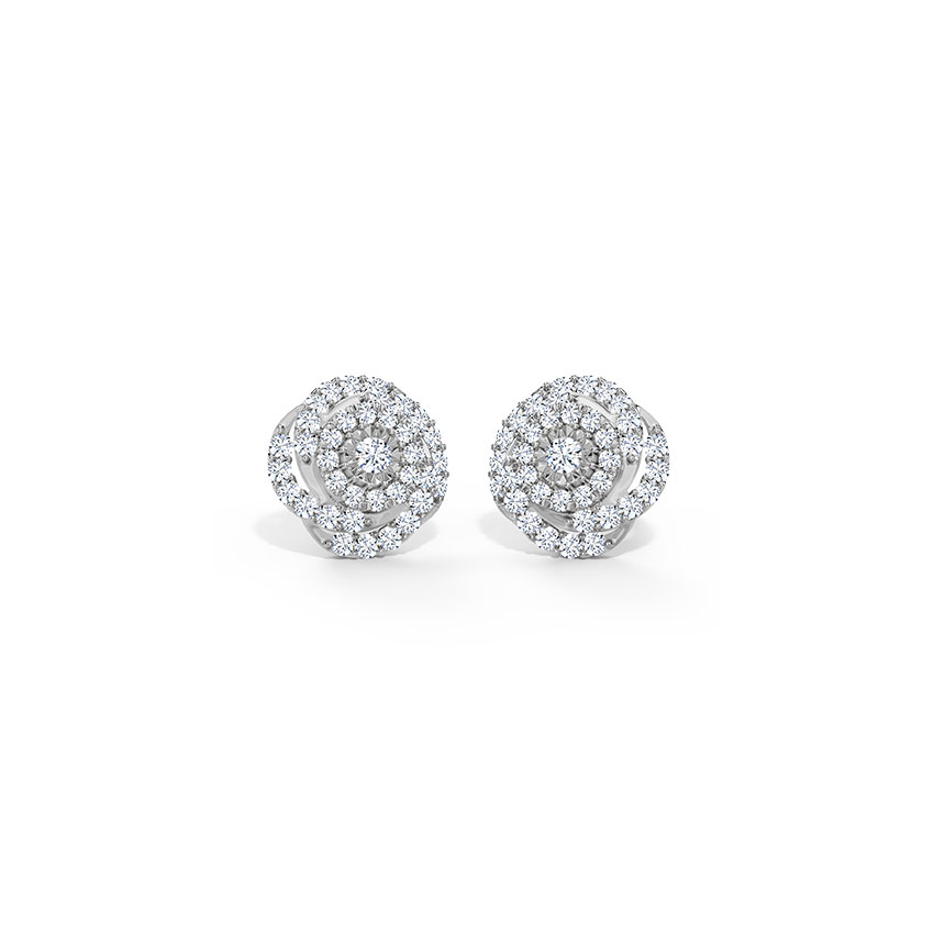 Swirled Cluster Stud Earrings