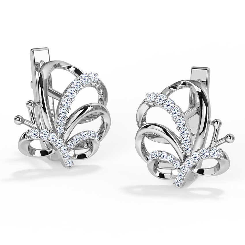 Winsome Butterfly Hoop Earrings