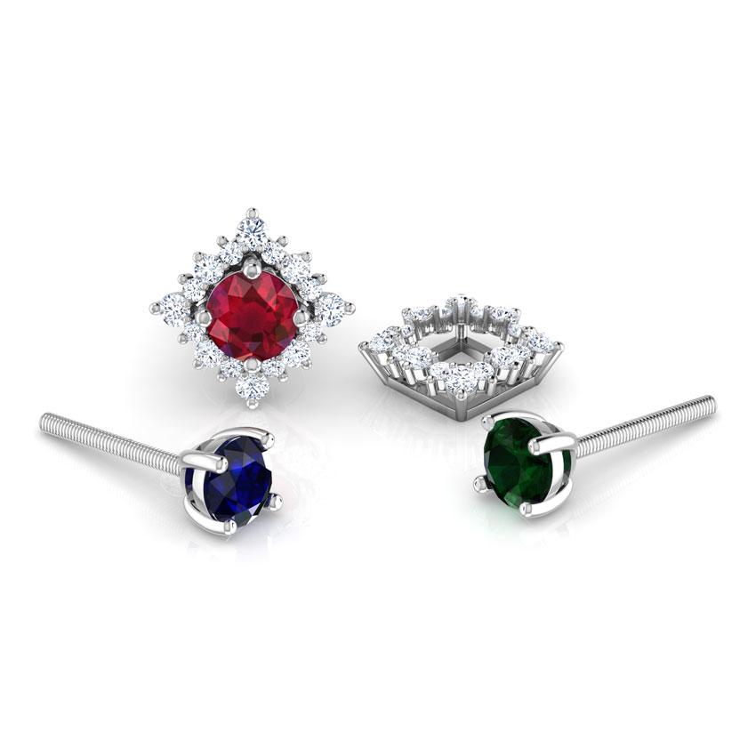 Rhombus Multi-Style Stud Earrings