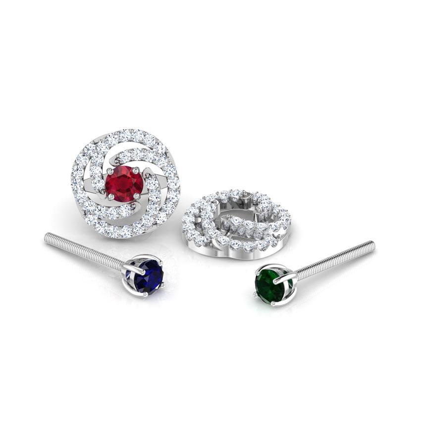 Swirl Multi-Style Stud Earrings