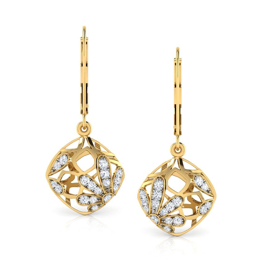 Tangle Flower Drop Earrings
