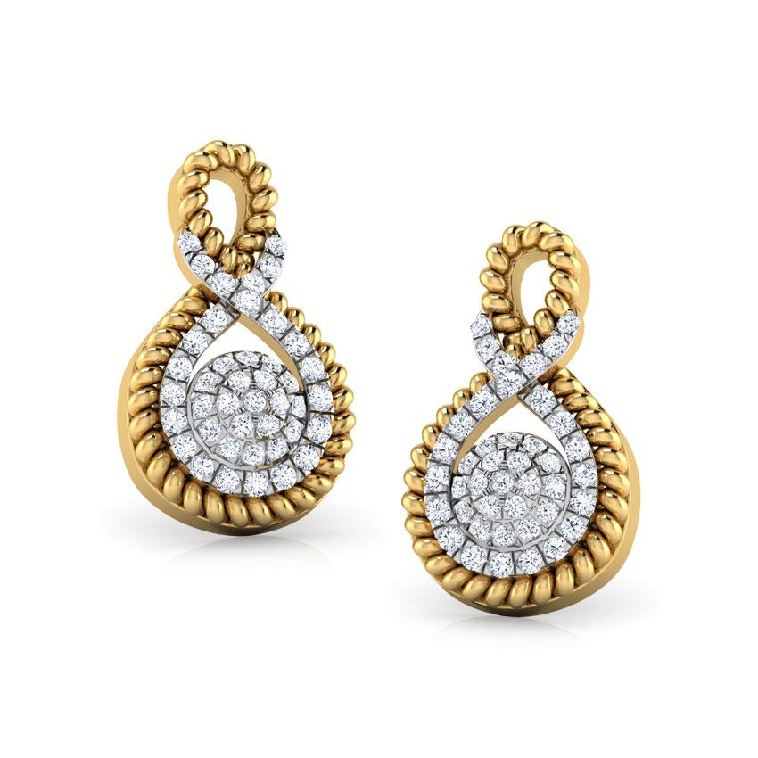 Infinity Cluster Stud Earrings