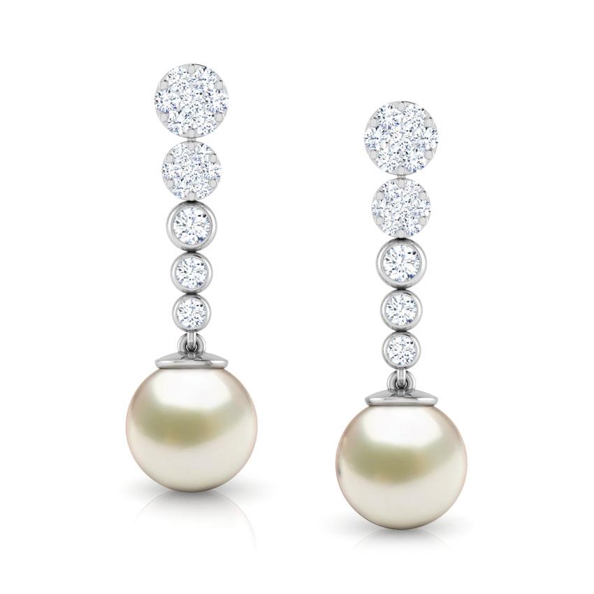 Encircle Pearl Drop Earrings