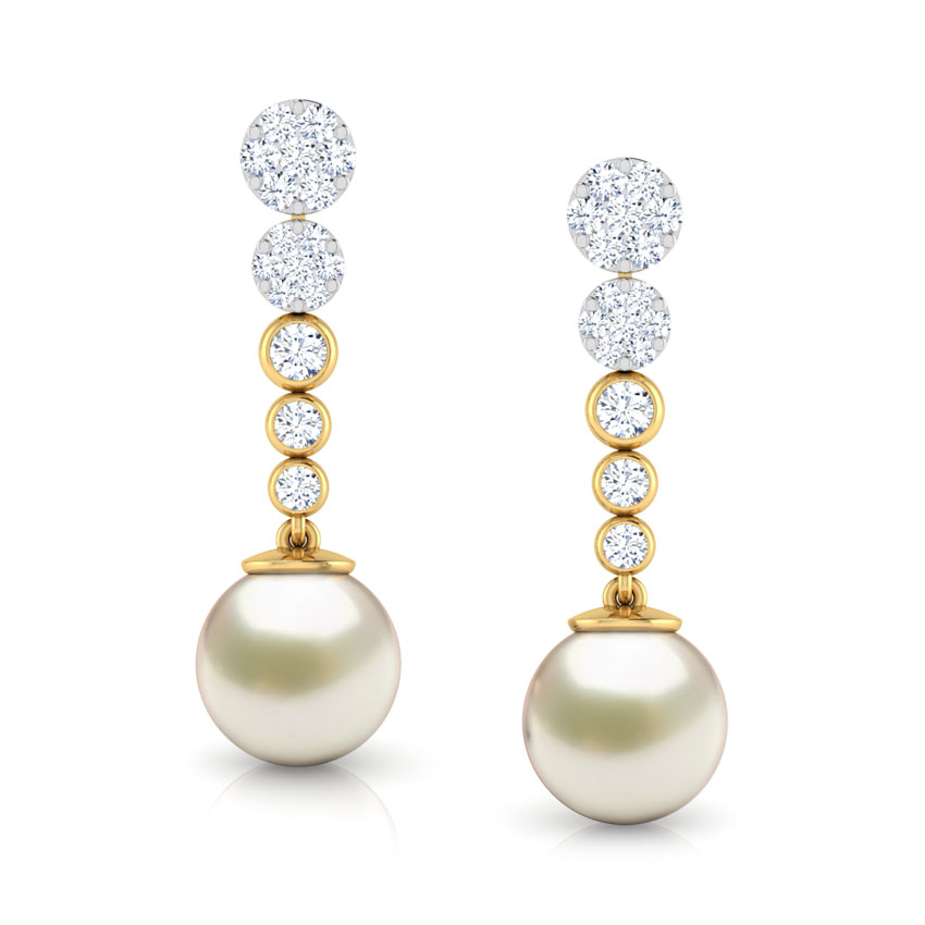 Encircle Pearl Drop Earrings