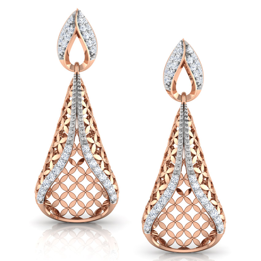 gold diamond earrings jhumka real look