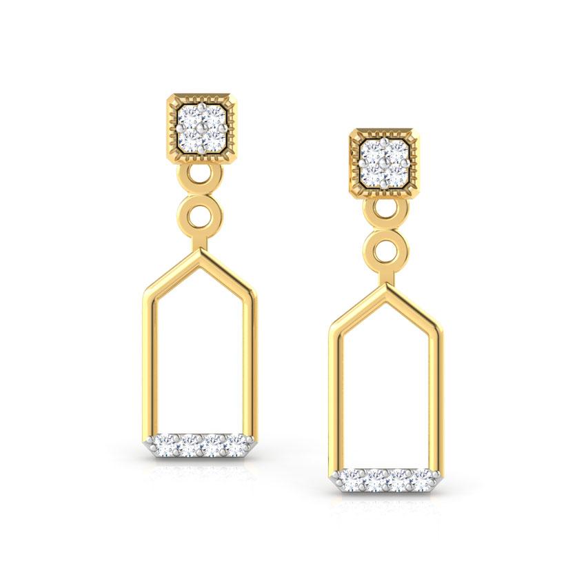Diamond Earrings 18 Karat Yellow Gold Daring Duet Diamond Ear Jackets