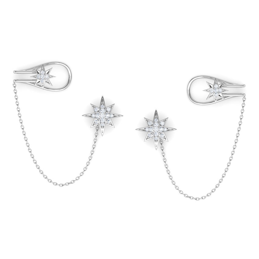 Star Chain Ear Cuffs