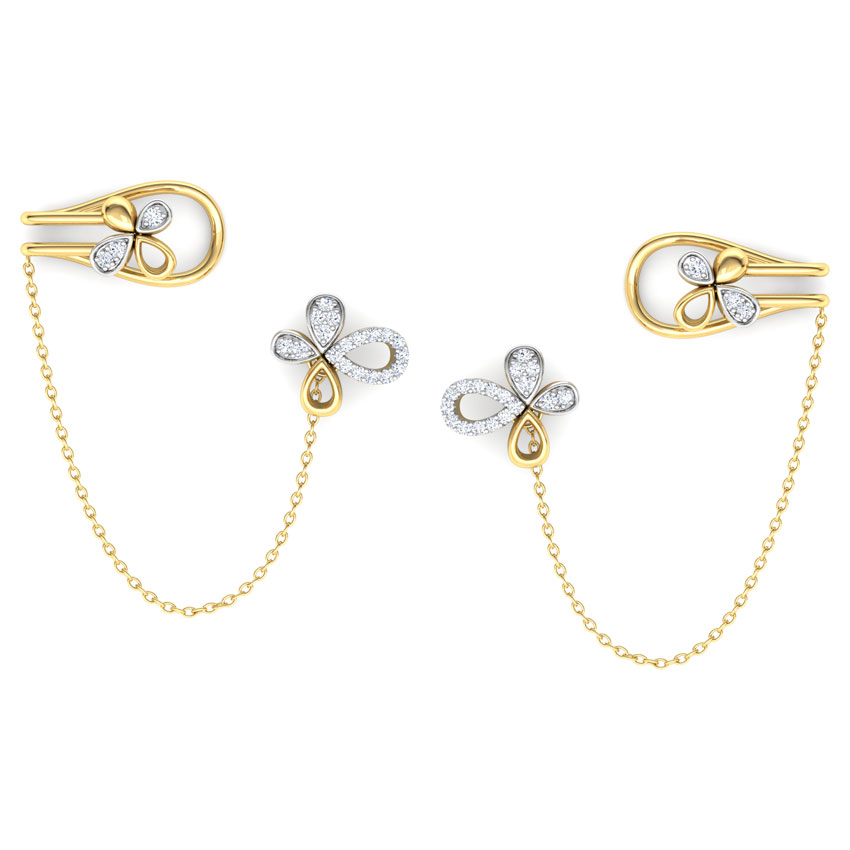 Floret Chain Ear Cuffs