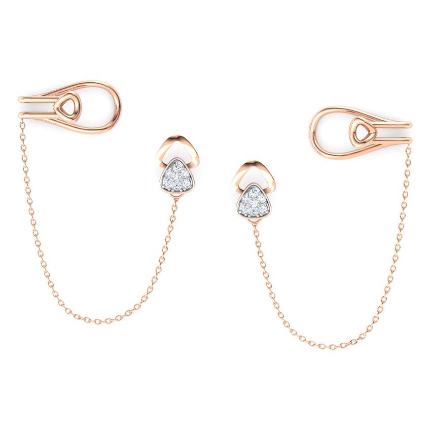Triad Chain Ear Cuffs