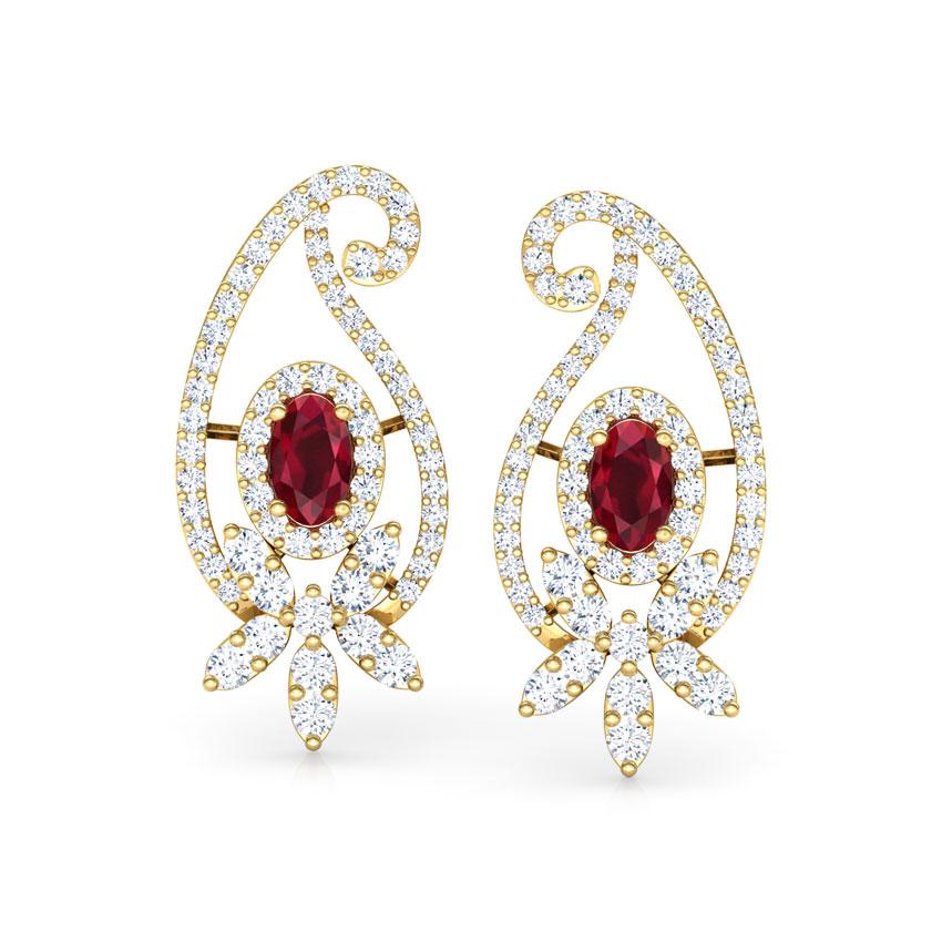 Paisley Petals Stud Earrings